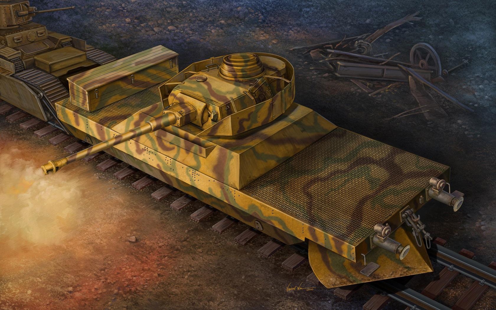 рисунок Немецкий Panzerjägerwagen