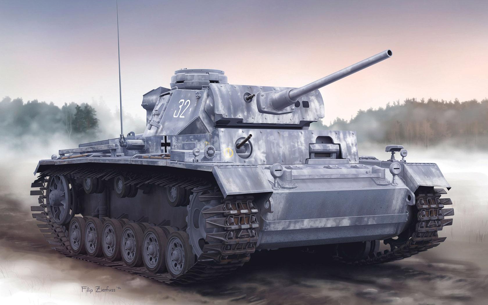 рисунок Pz.Kpfw.III Ausf.L Late