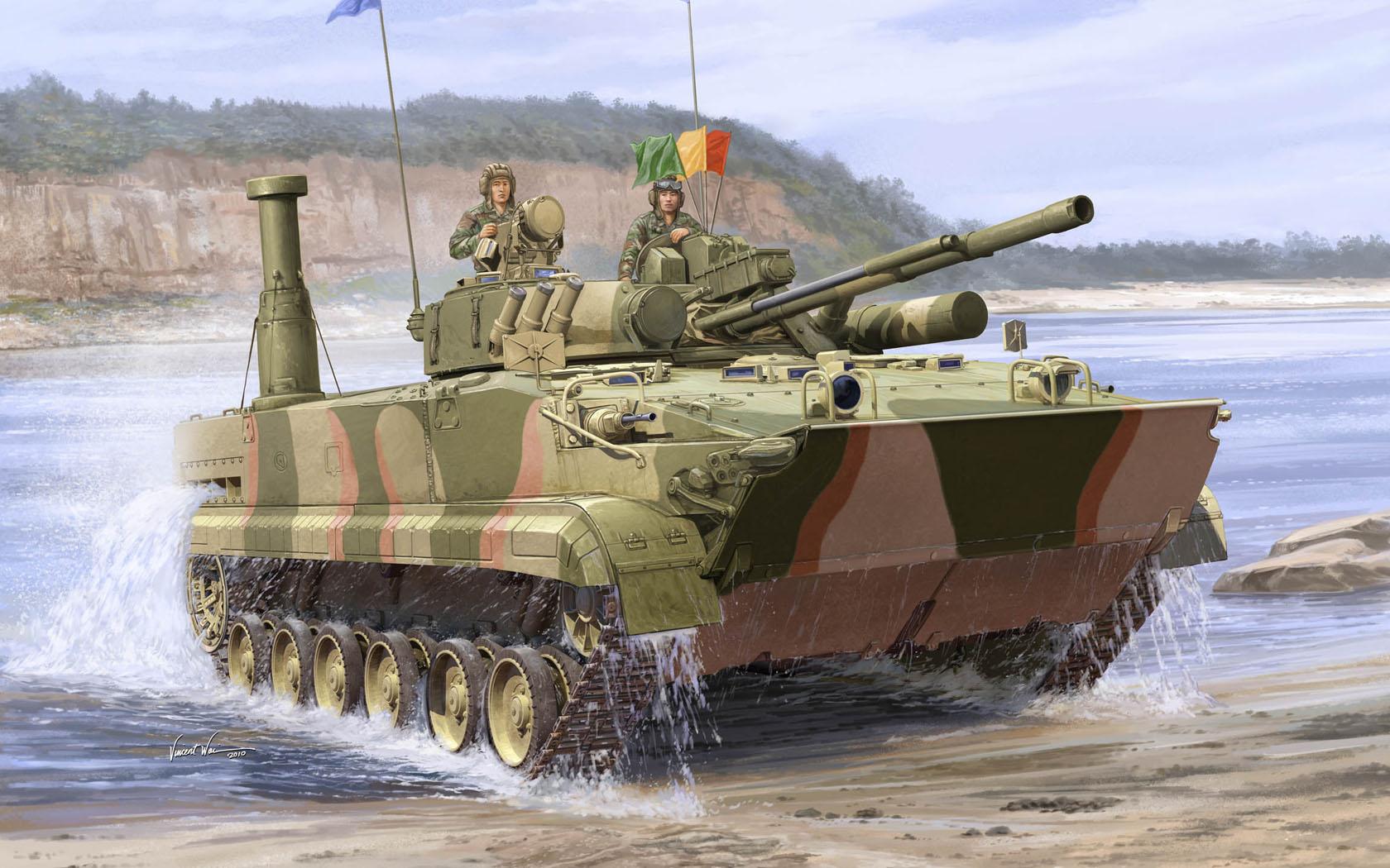 рисунок Южно-корейская БМП-3