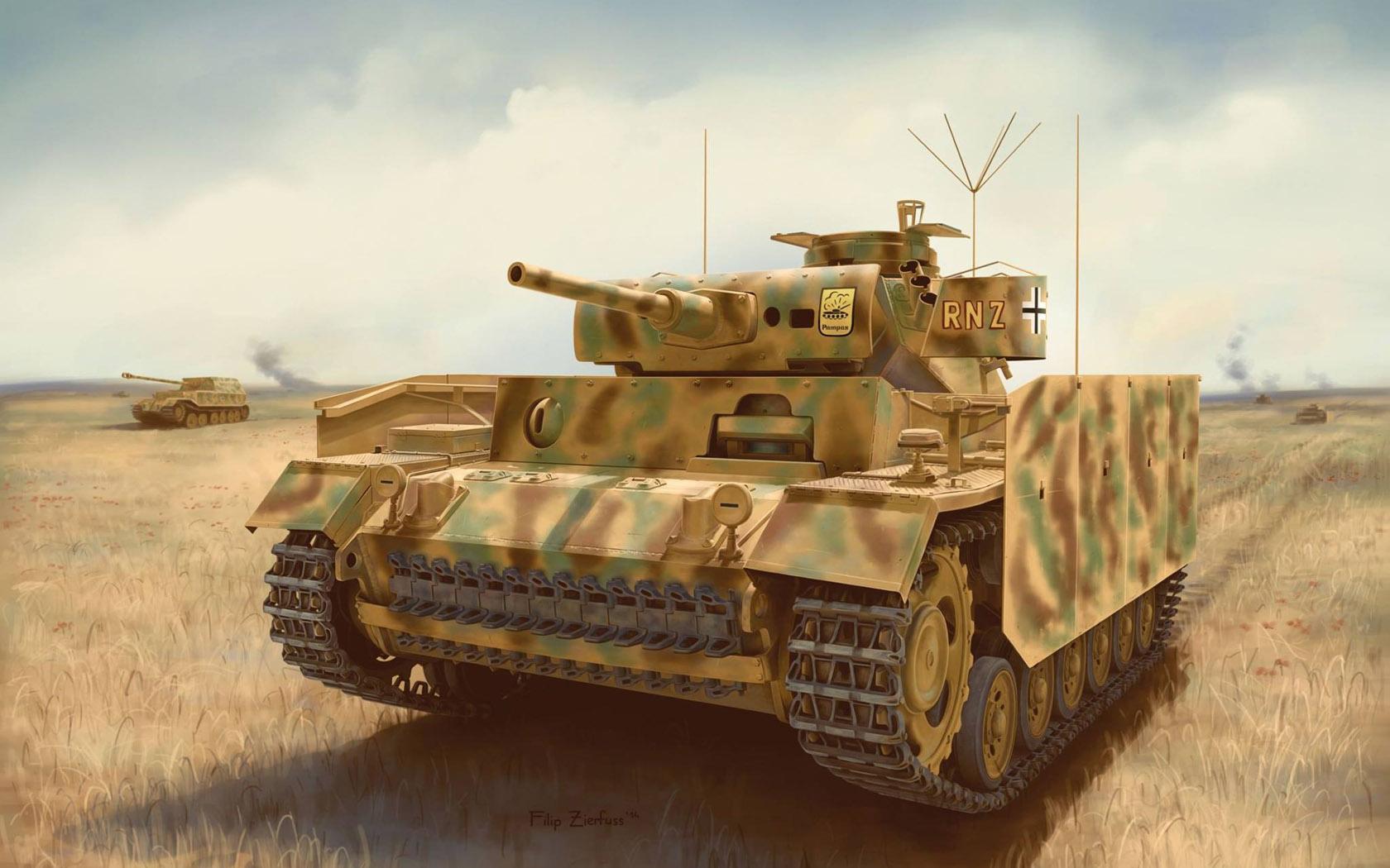 рисунок Pz.Bef.Wg. III Ausf. J w/Schürzen