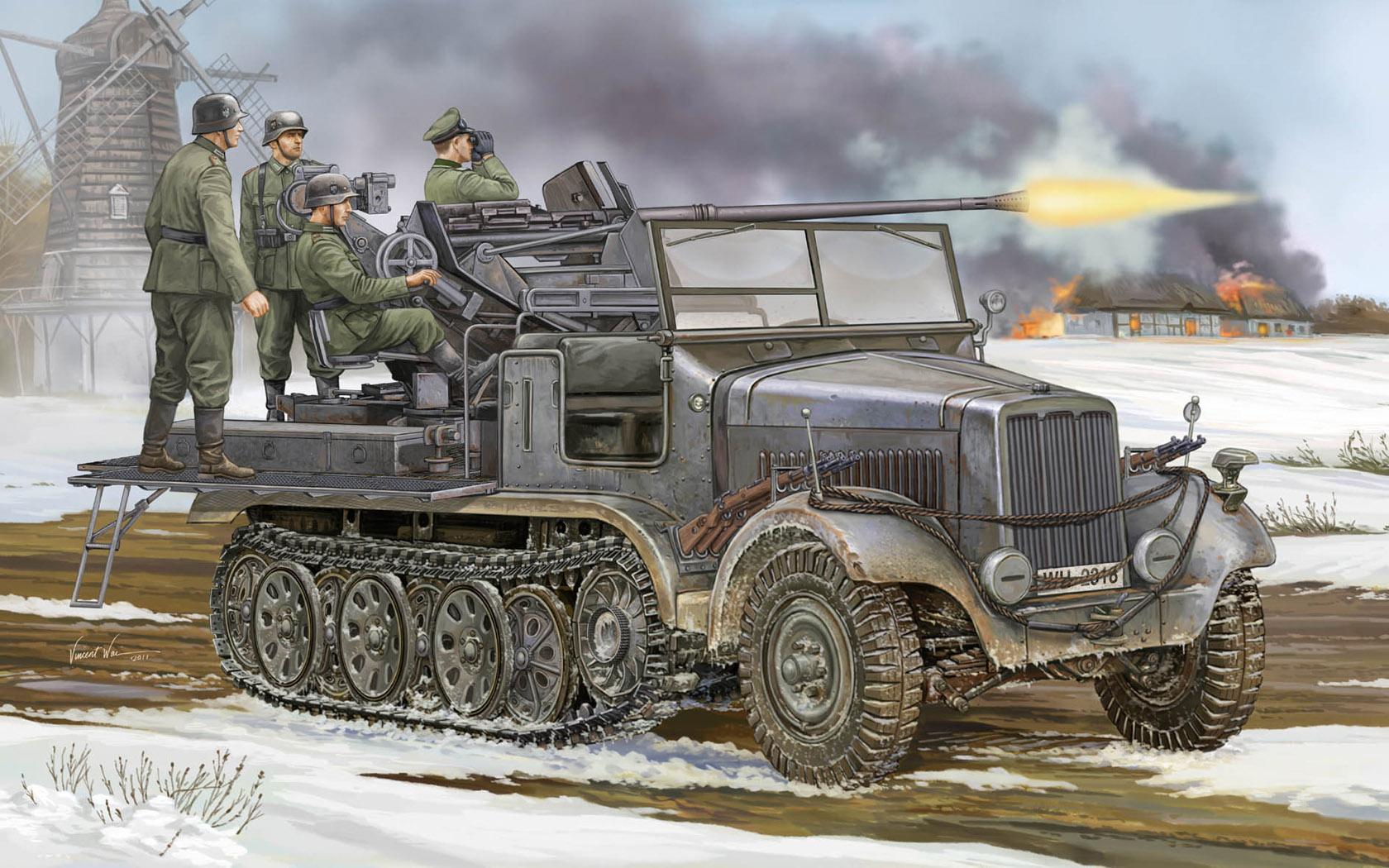 рисунок Sd.Kfz. 6/2 Flak 37