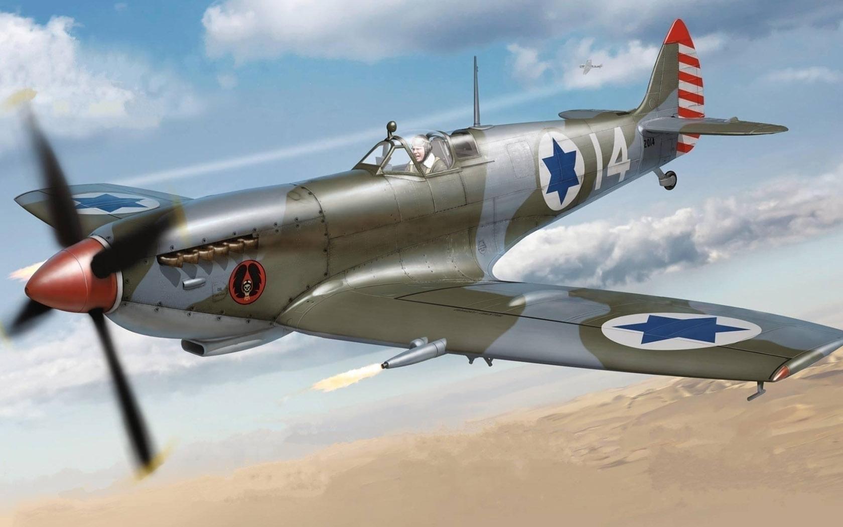 рисунок Spitfire Mk.IXe