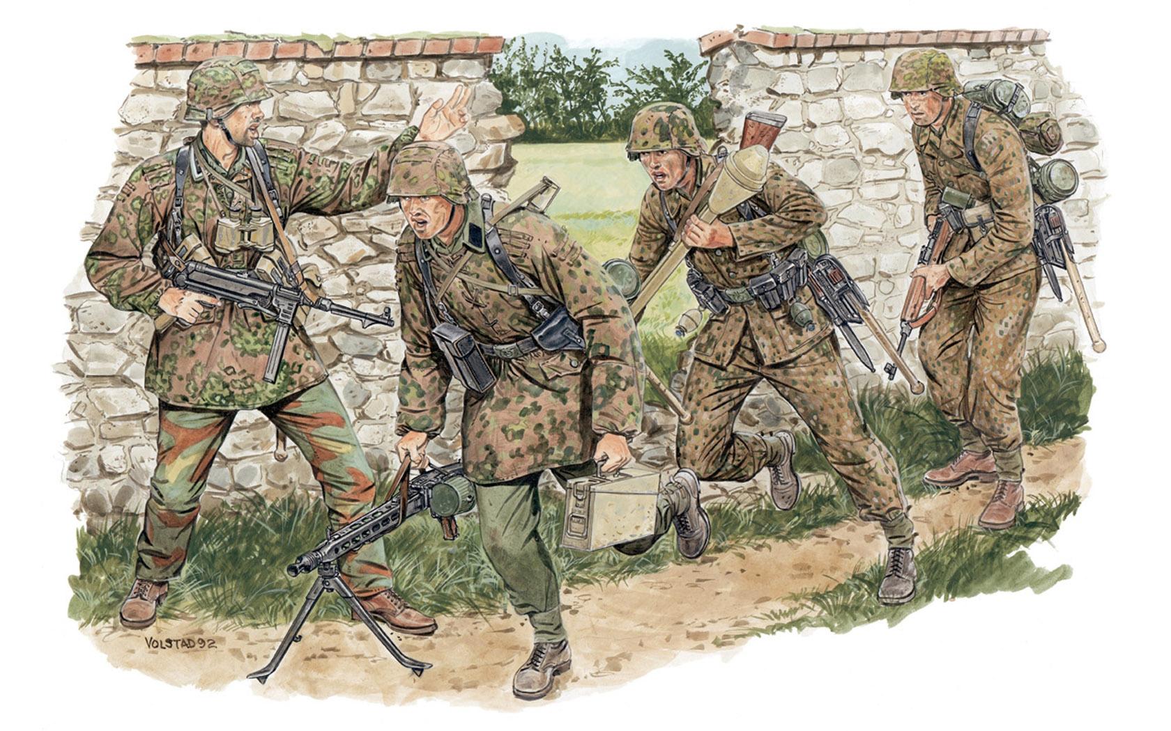 рисунок Немецкая пехота SS