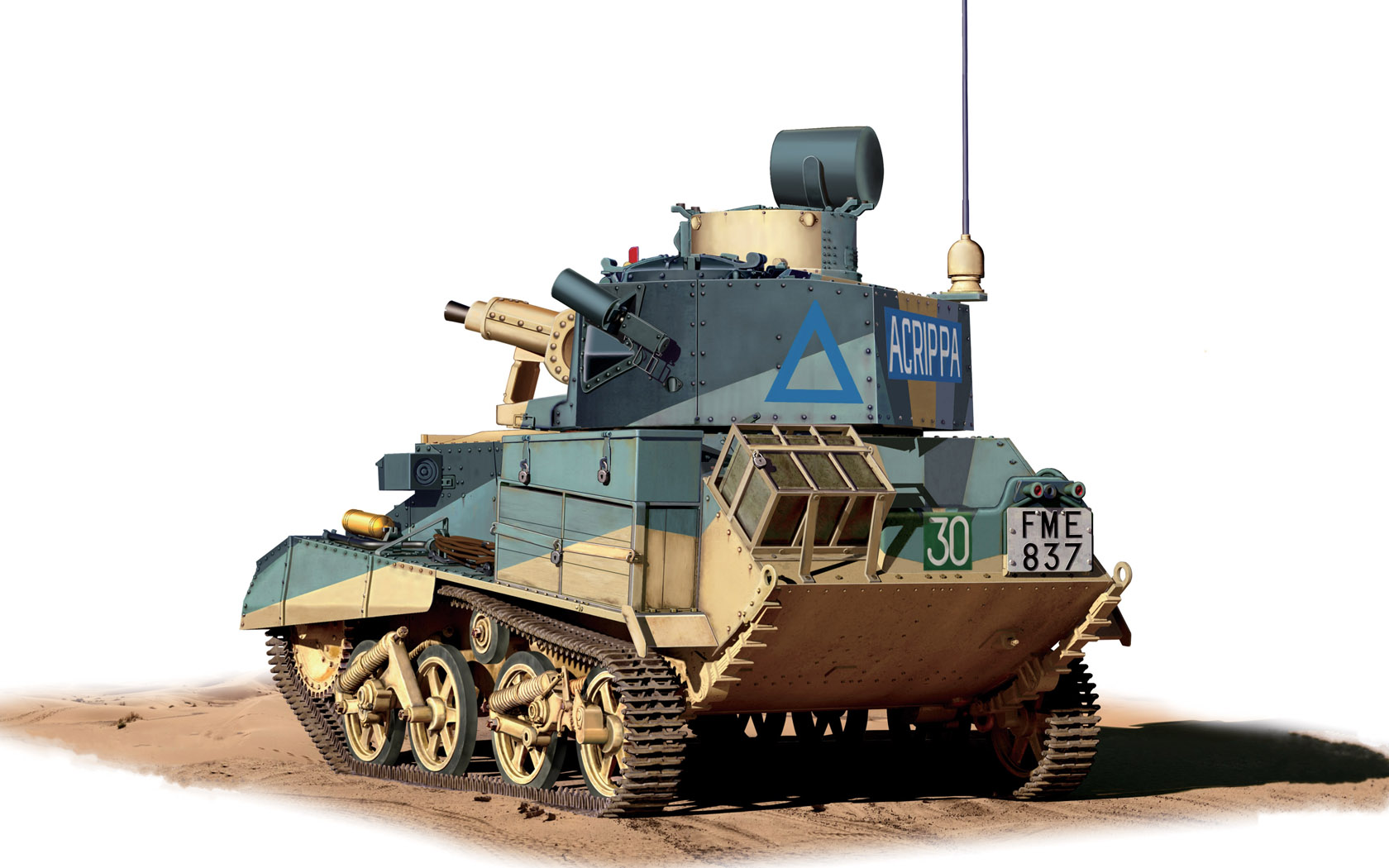 рисунок British Light Tank Mark VIB North Africa