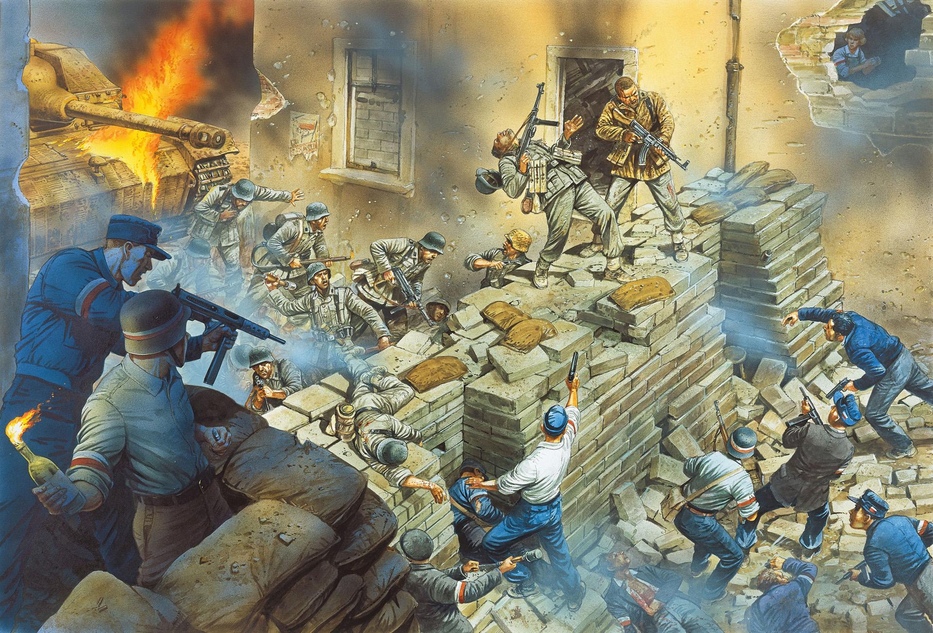 рисунок На баррикаде Варшавского восстания