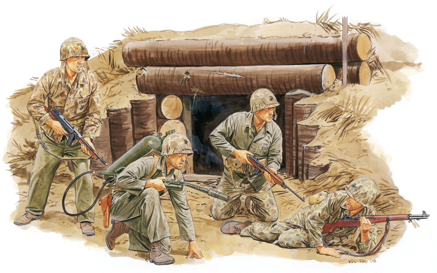 рисунок 2nd Division USMC Tarawa 1943