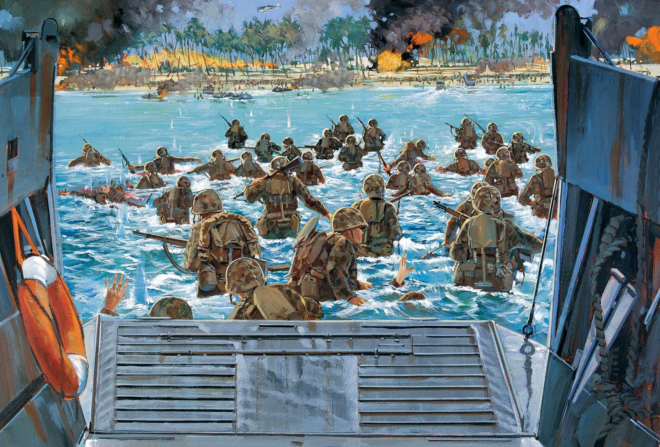 рисунок высадка морских пехотинцев