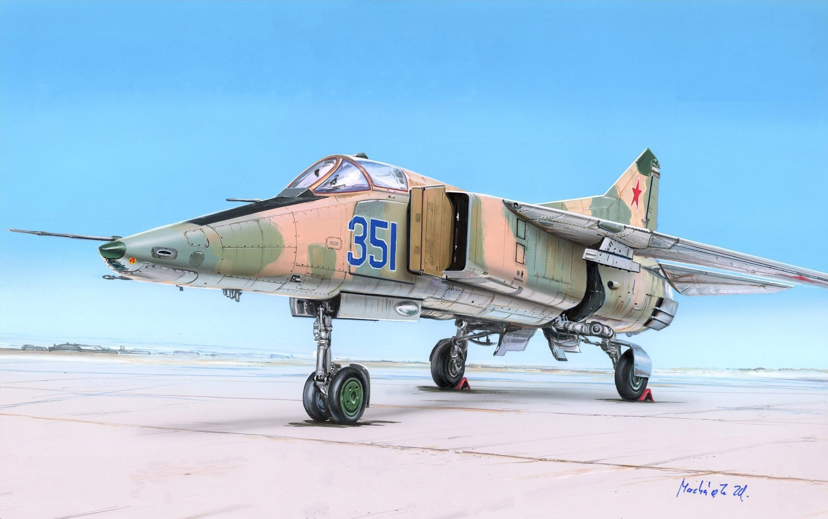 рисунок МиГ-23БМ (изделие 32-25/1)