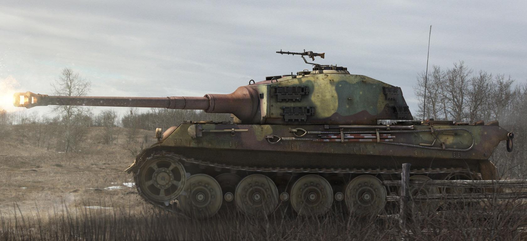 рисунок Pz.Kpfw. VI Ausf. B Tiger II