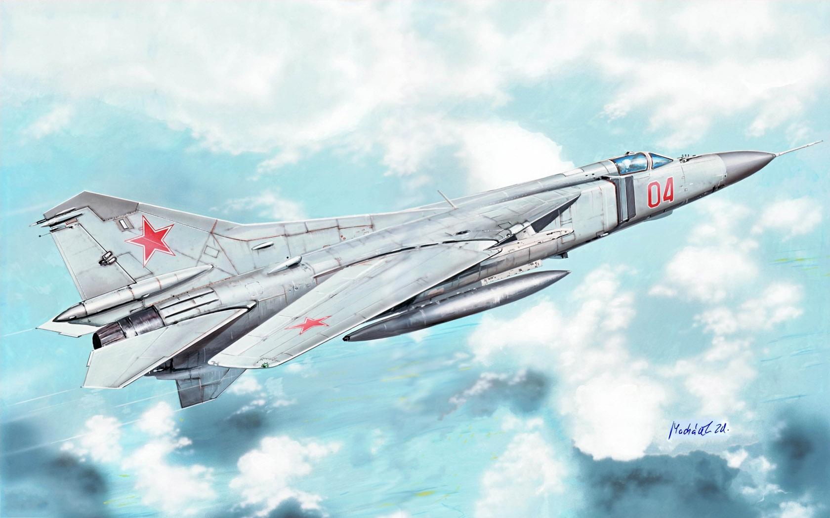 рисунок МиГ-23М (изделие 23-11М)