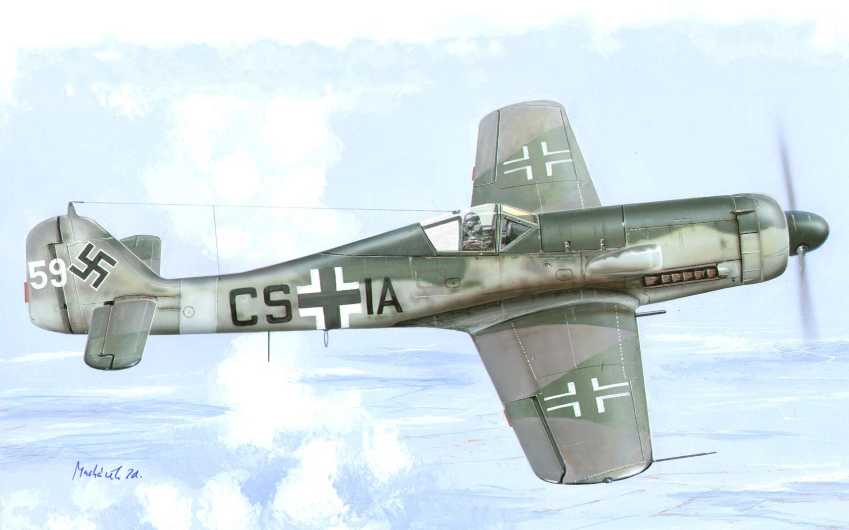 рисунок Focke-Wulf Fw-190D-12