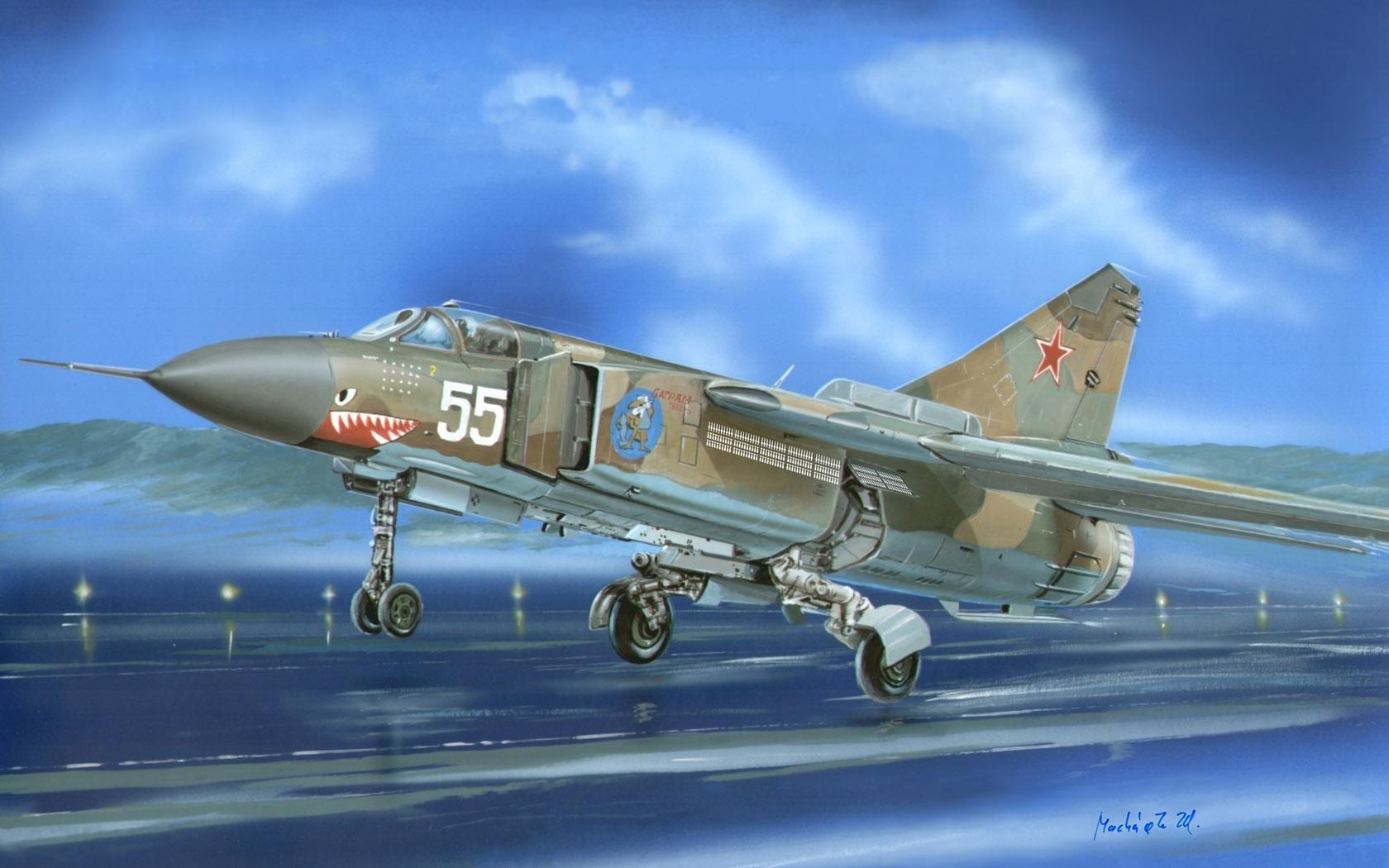рисунок МиГ-23МЛД (изделие 23-18)