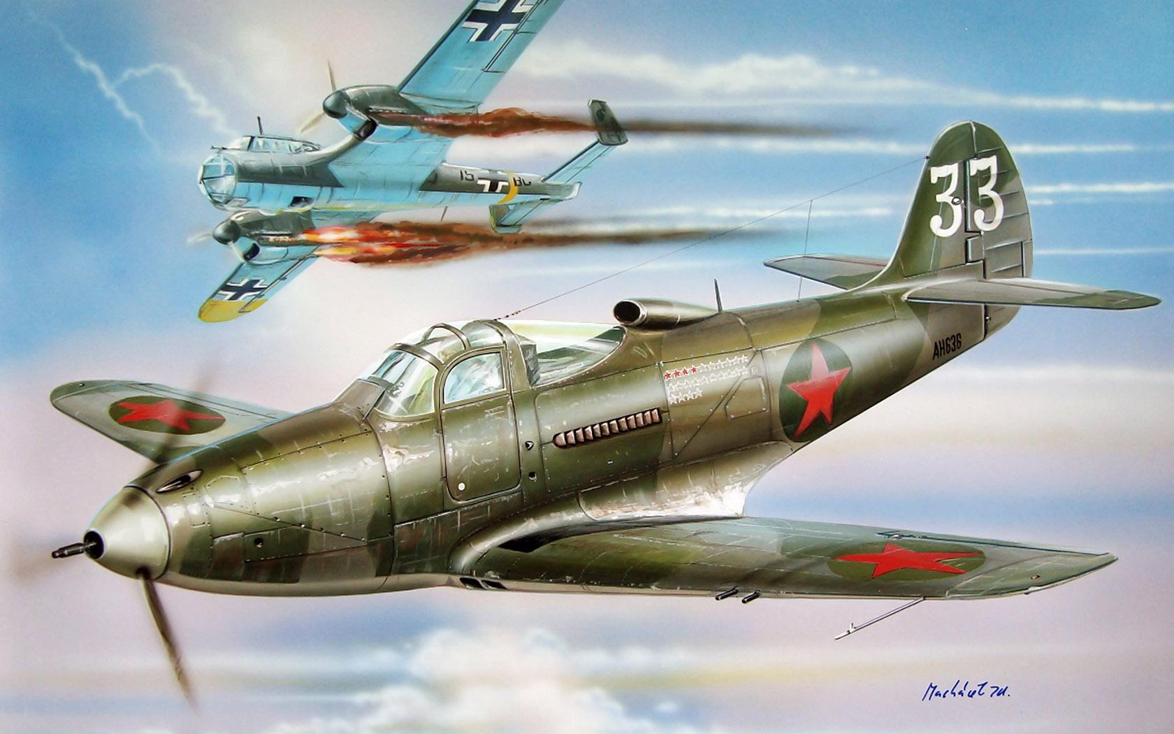 рисунок Airacobra Mk.I (P-400)