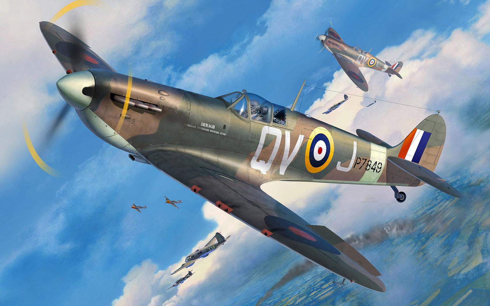 рисунок Supermarine Spitfire Mk.IIa
