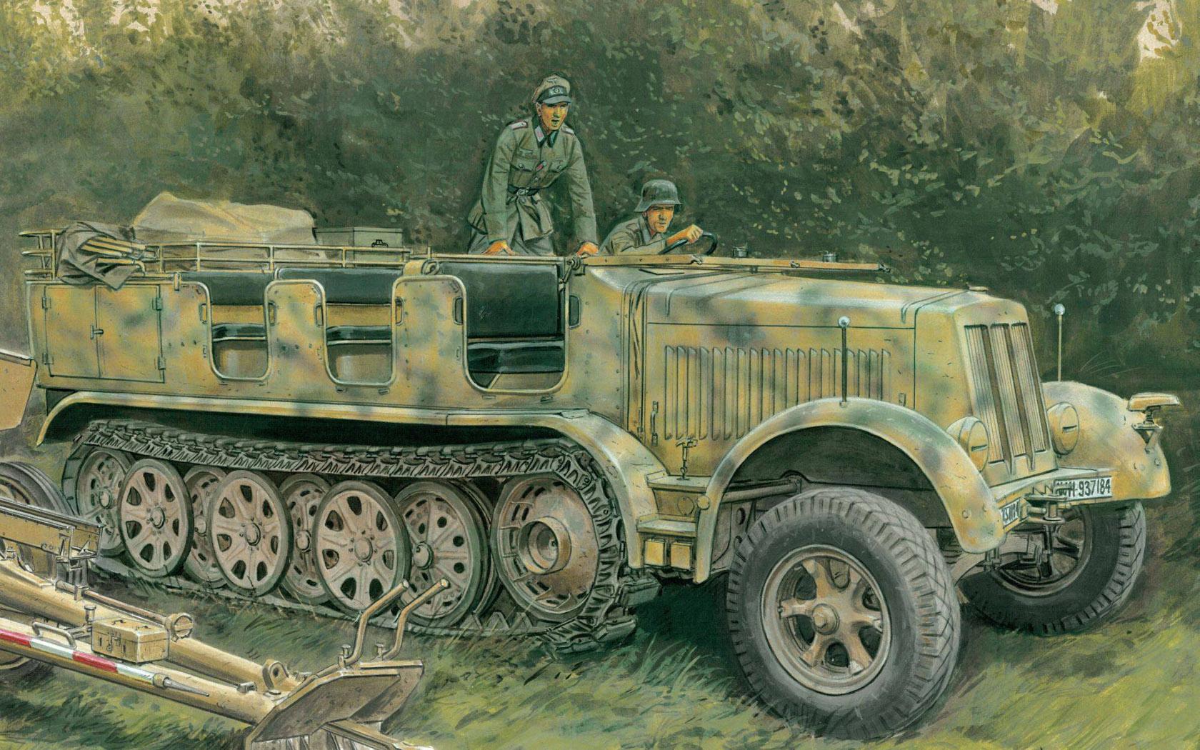 рисунок Sd.Kfz.7 8(t) 1943 Production