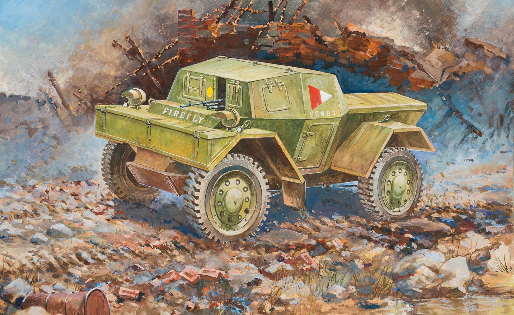 рисунок бронеавтомобиль Даймлер