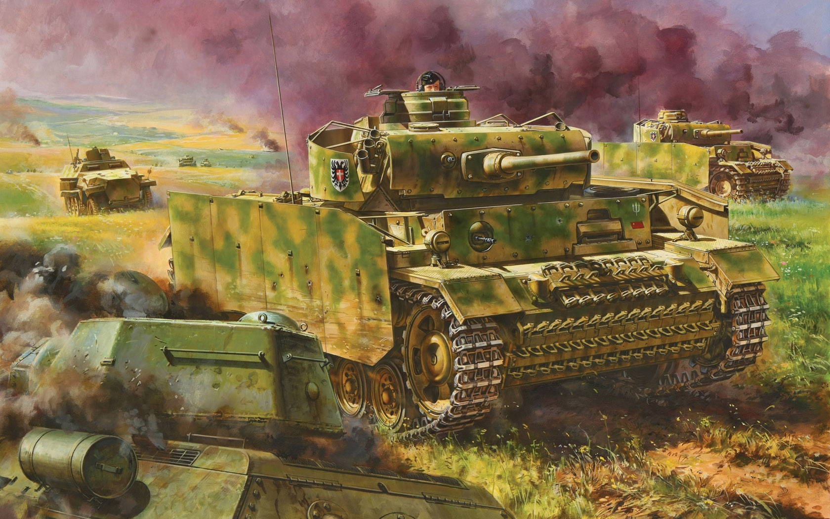 рисунок Pz.Kpfw.III Ausf.M w/Schurzen