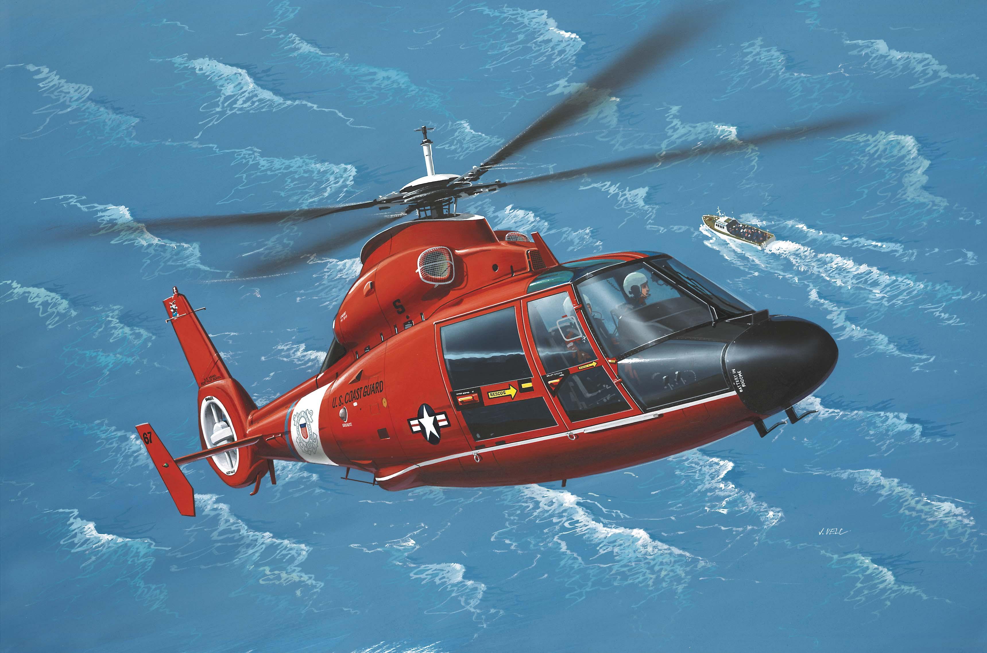 рисунок Eurocopter SA365 Dauphin 2
