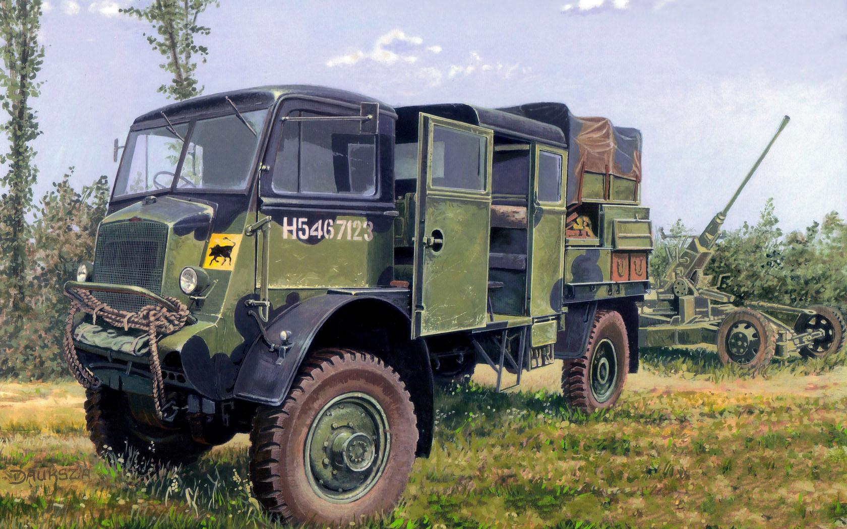 рисунок Bedford QLB 4x4 Bofors Gun Tractor