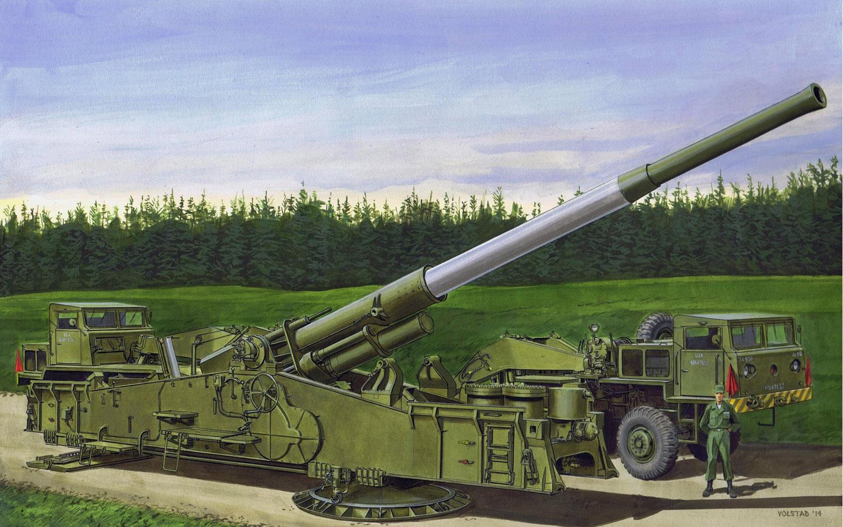 рисунок M65 Atomic Annie Gun, Heavy Motorized 280mm