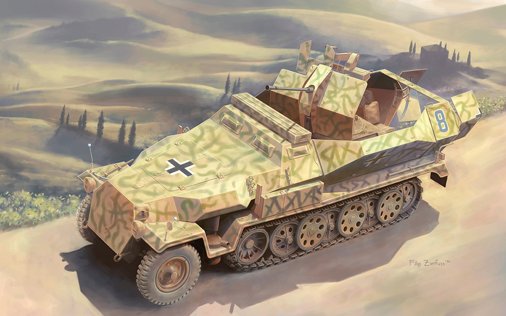 рисунок Sd Kfz 251/17 Ausf C