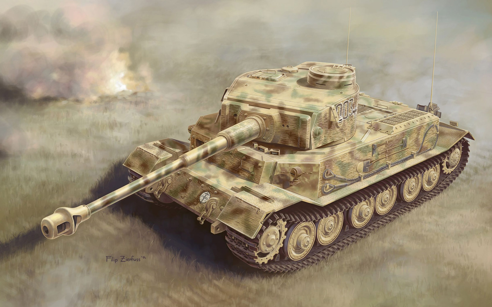 рисунок Тигр Порше