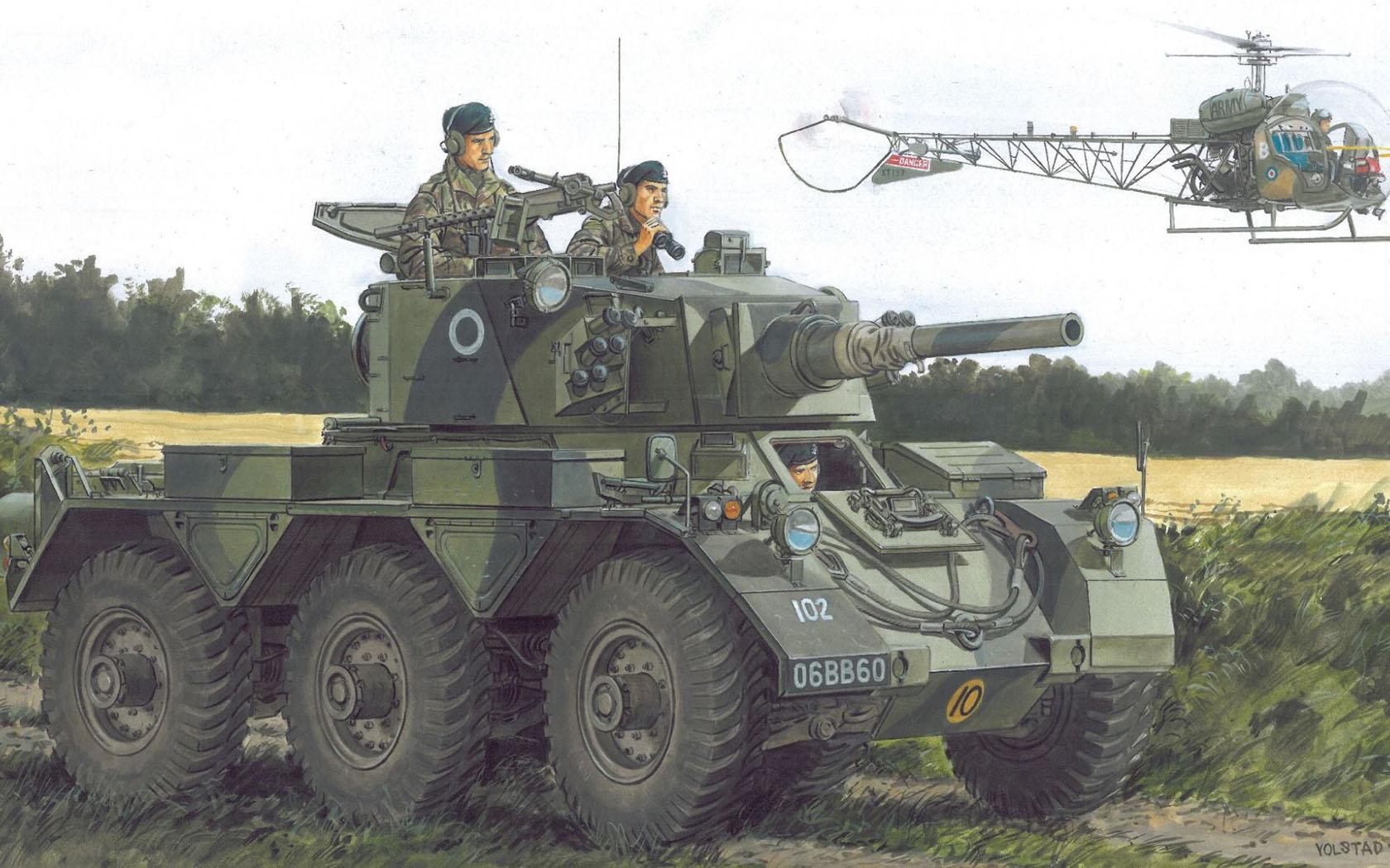 рисунок British Armored Car Saladin Mk.II