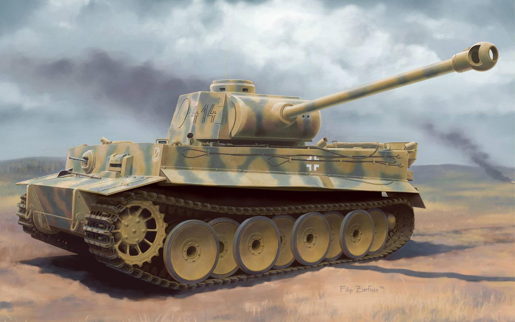 рисунок Tiger I Ausf. H2