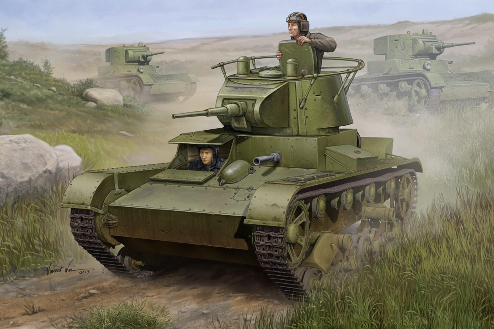 рисунок легкий танк Т-26 обр. 1938 г.
