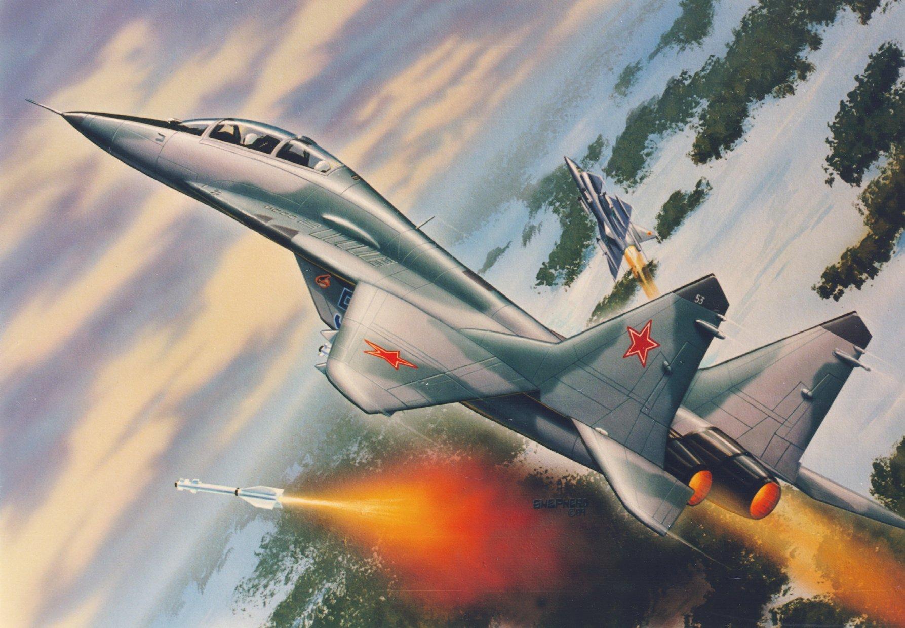 рисунок МиГ-29УБ