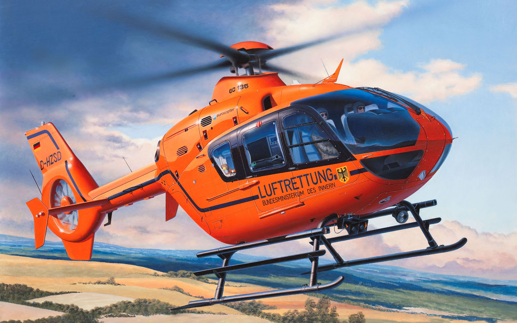"рисунок Eurocopter EC135 ""Luftrettung"""