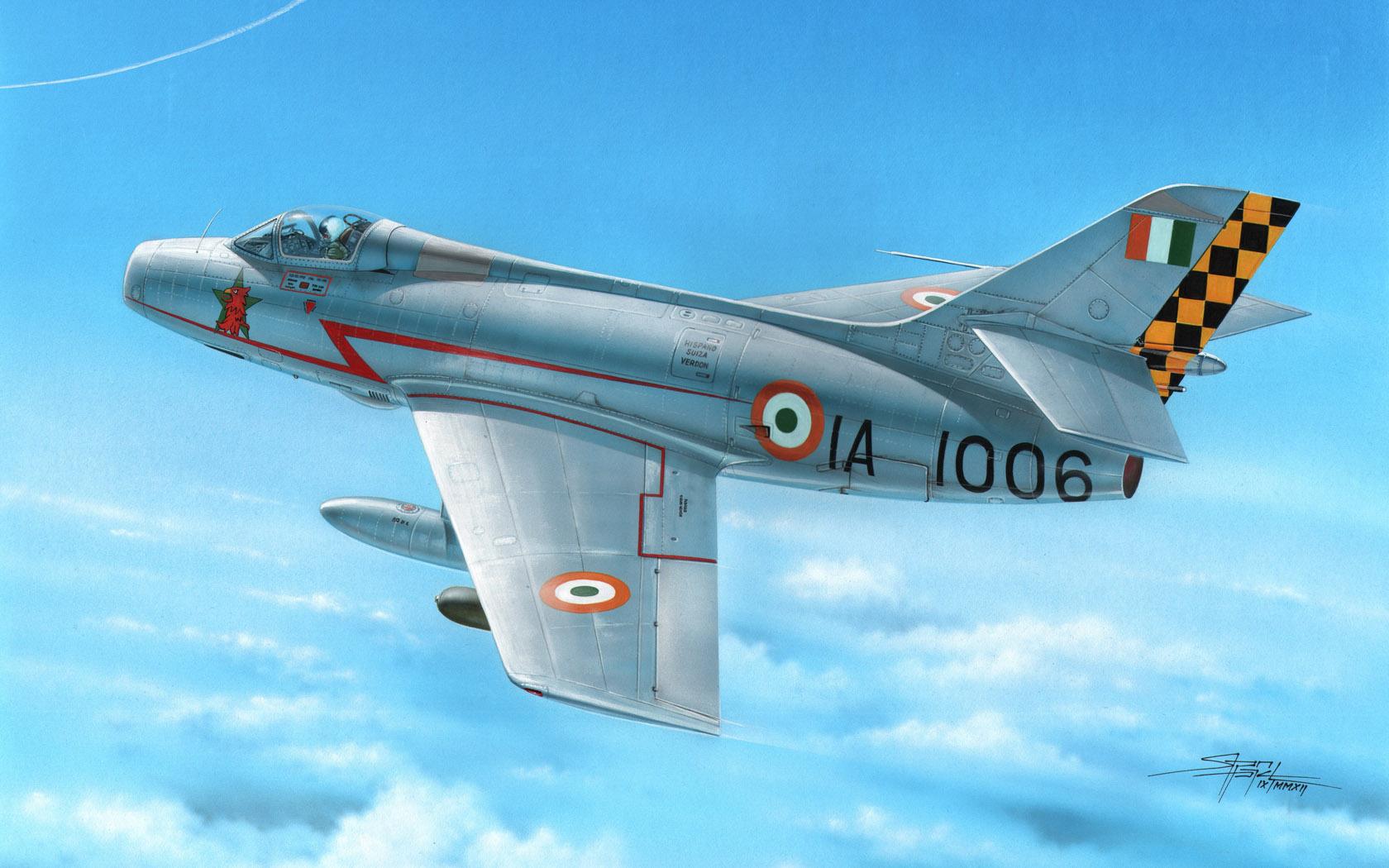 рисунок Dassault Mystere IVA India