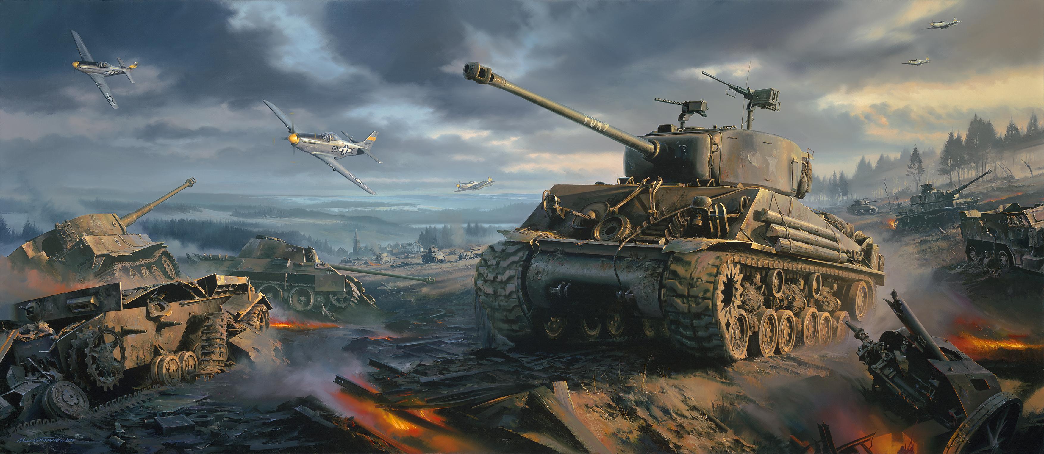 рисунок Sherman Fury