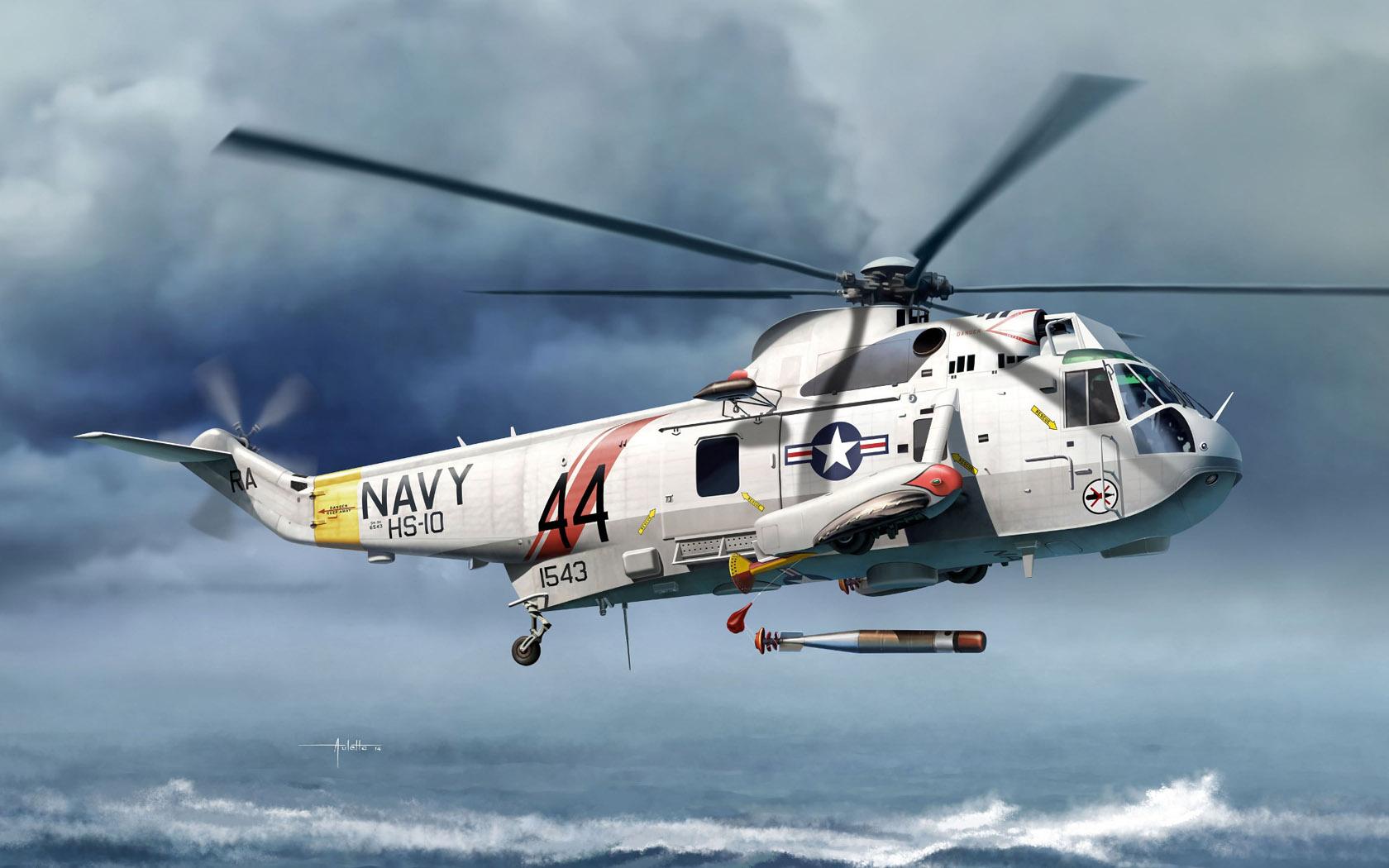 рисунок Sea King SH-3H Submarine Hunter