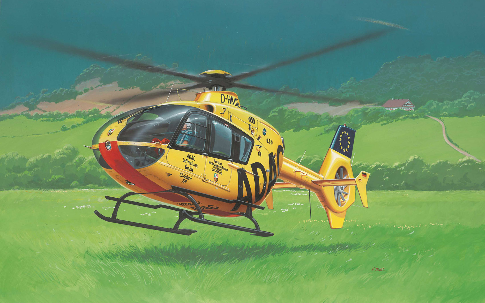 рисунок Eurocopter EC135 ADAC/OAMTC