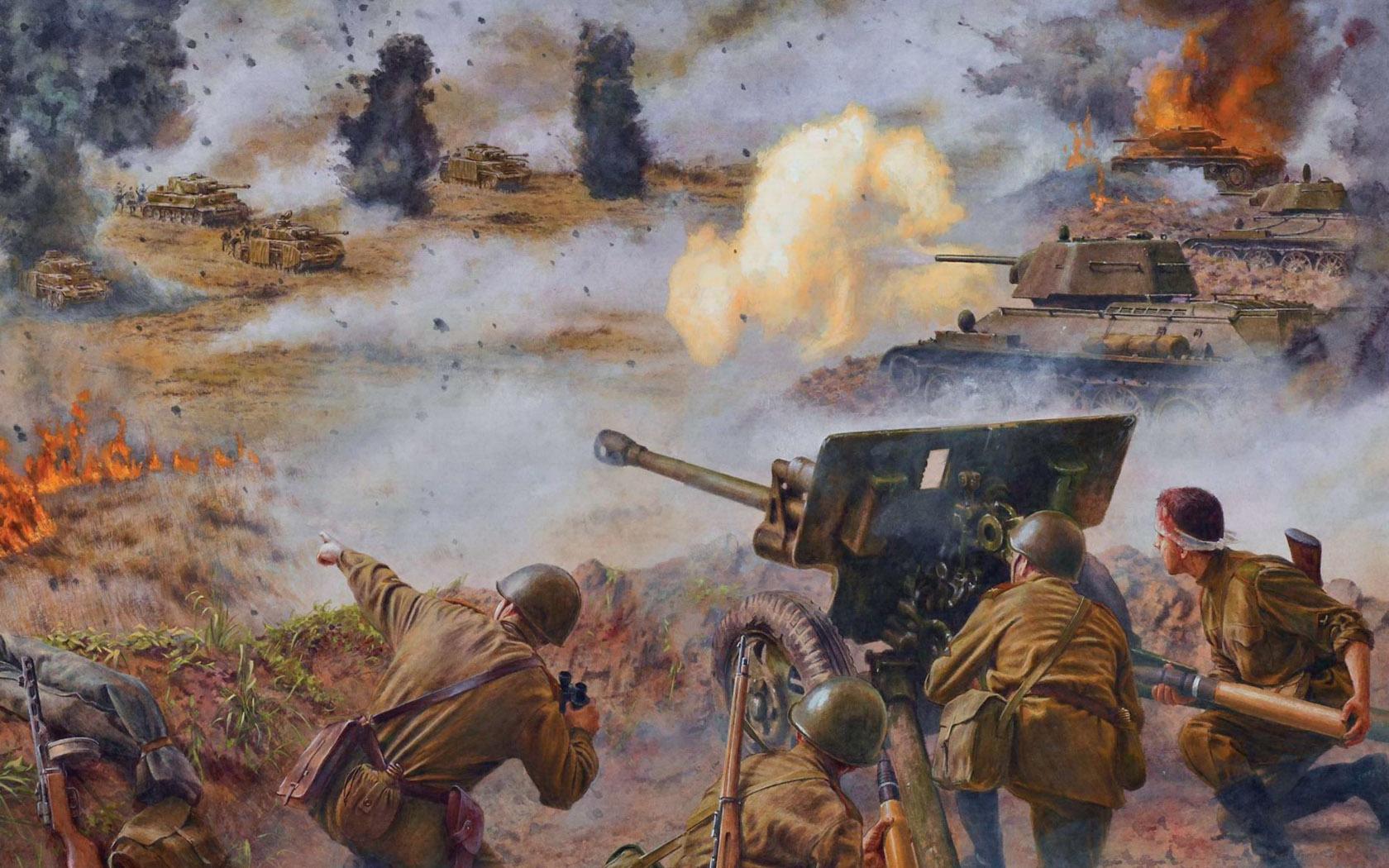 рисунок Отражение танковой атаки