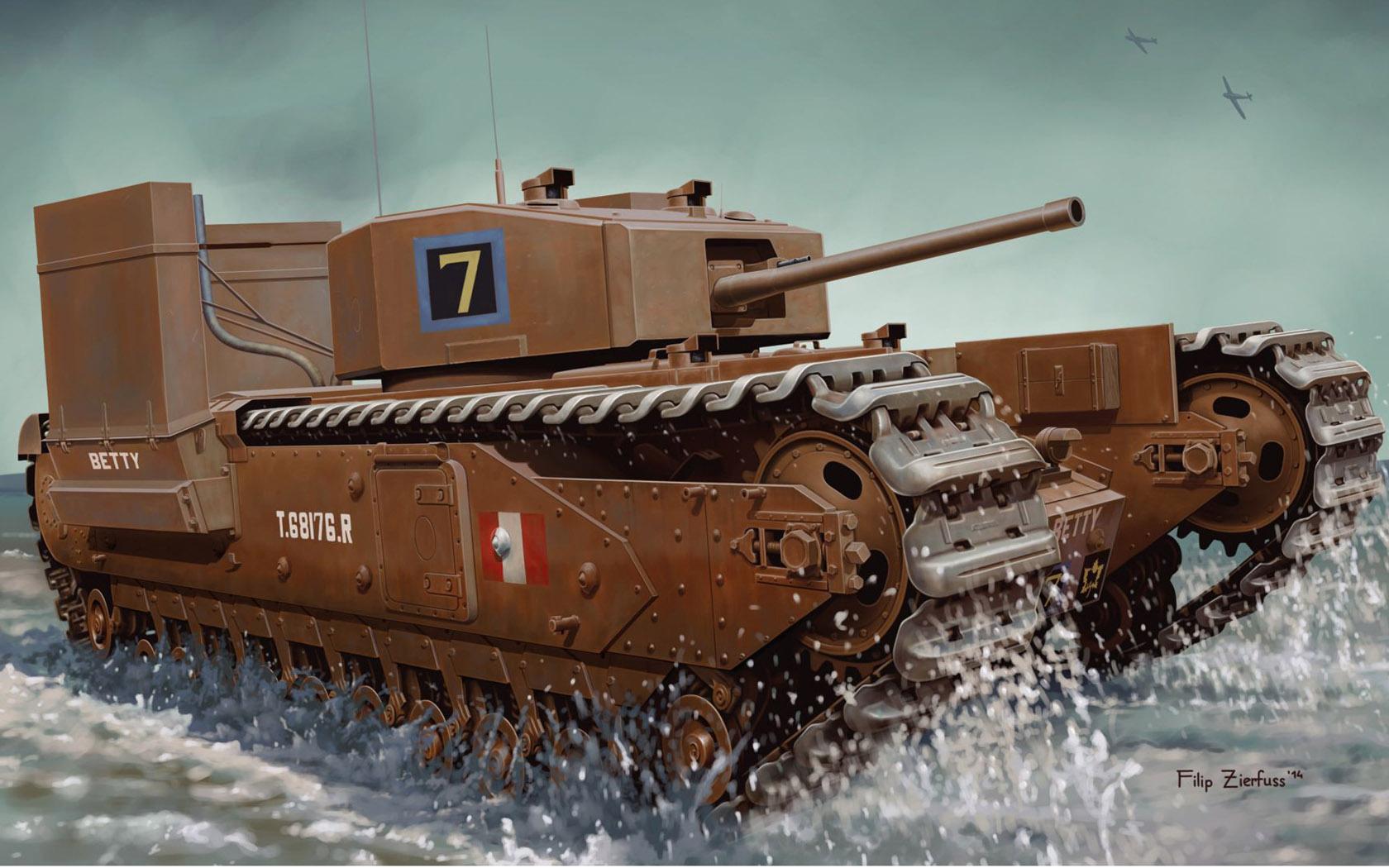рисунок Churchill Mk.III w: Deep Wading