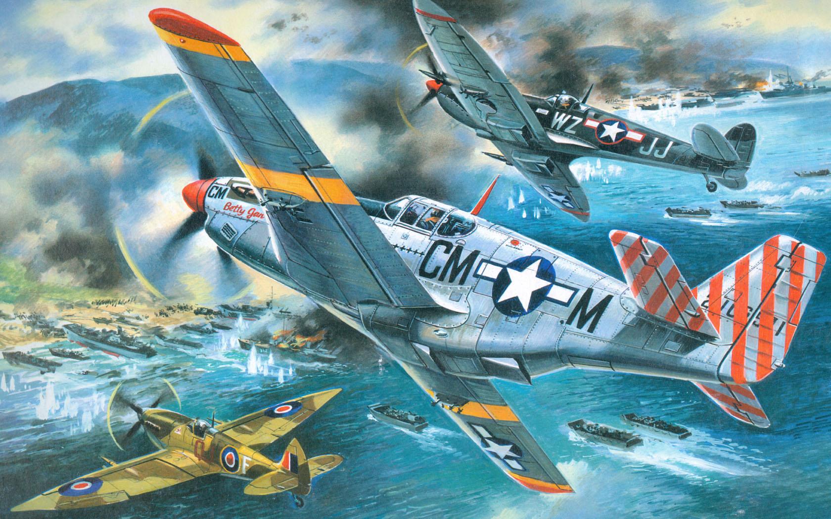 рисунок Operation Husky 1943