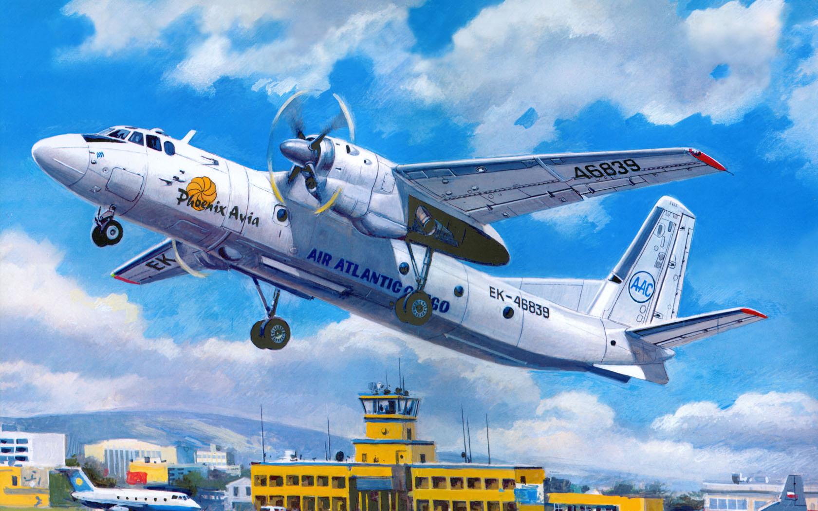 рисунок Ан-24Т