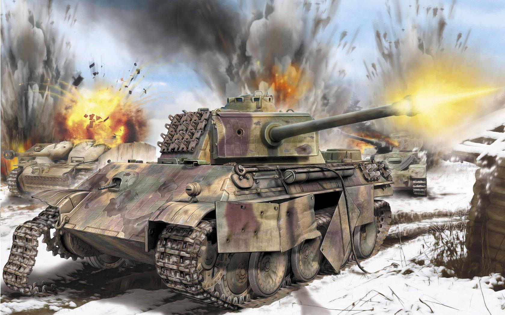рисунок разгром танковой армии СС