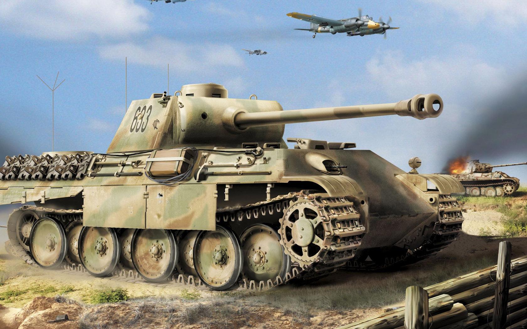 рисунок пантеры в Курской битве