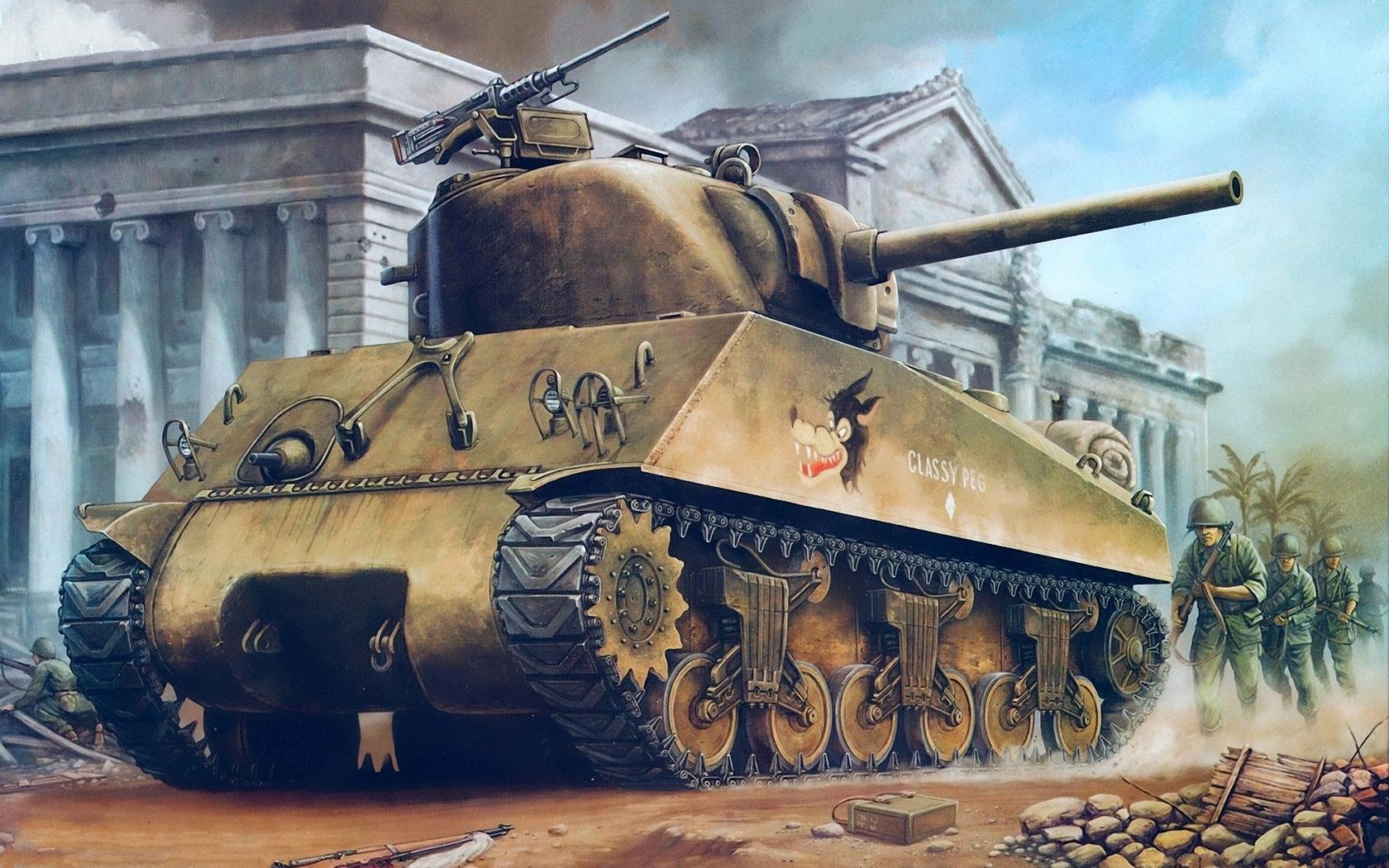 """рисунок M4A3 Sherman """"classy peg"""""""
