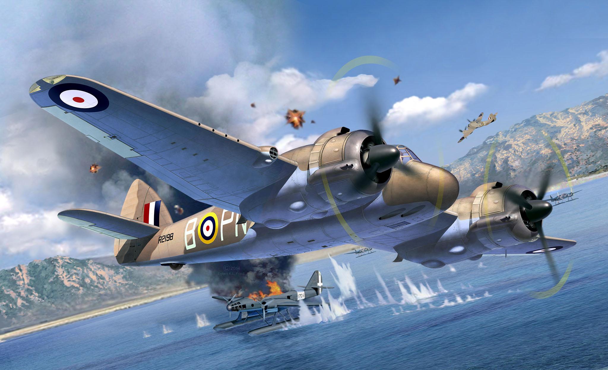 рисунок Bristol Beaufighter Mk.IF