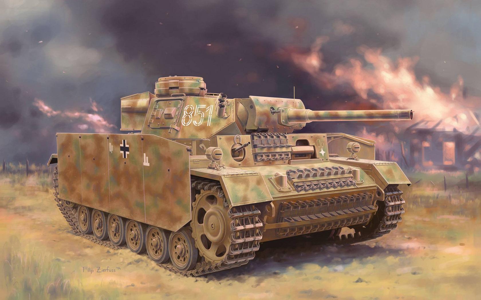 рисунок Pz.Kpfw.III (Fl) Ausf.M w/Schurzen