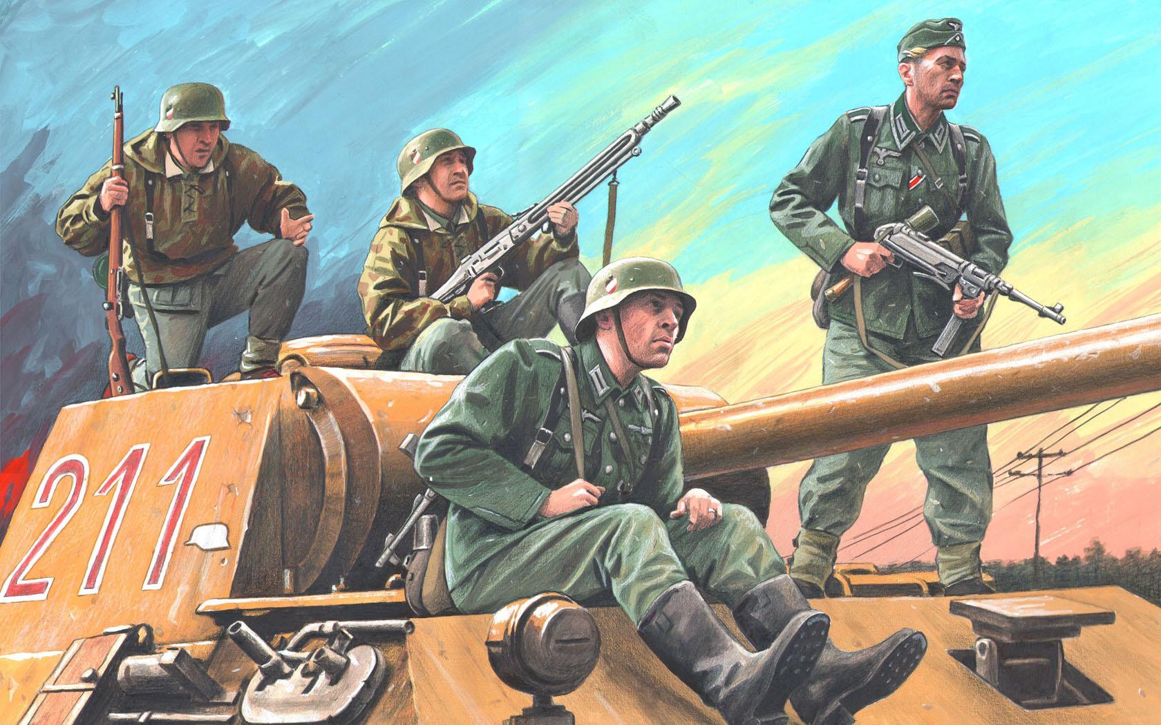 """рисунок Бойцы дивизии """"Великая Германия"""""""