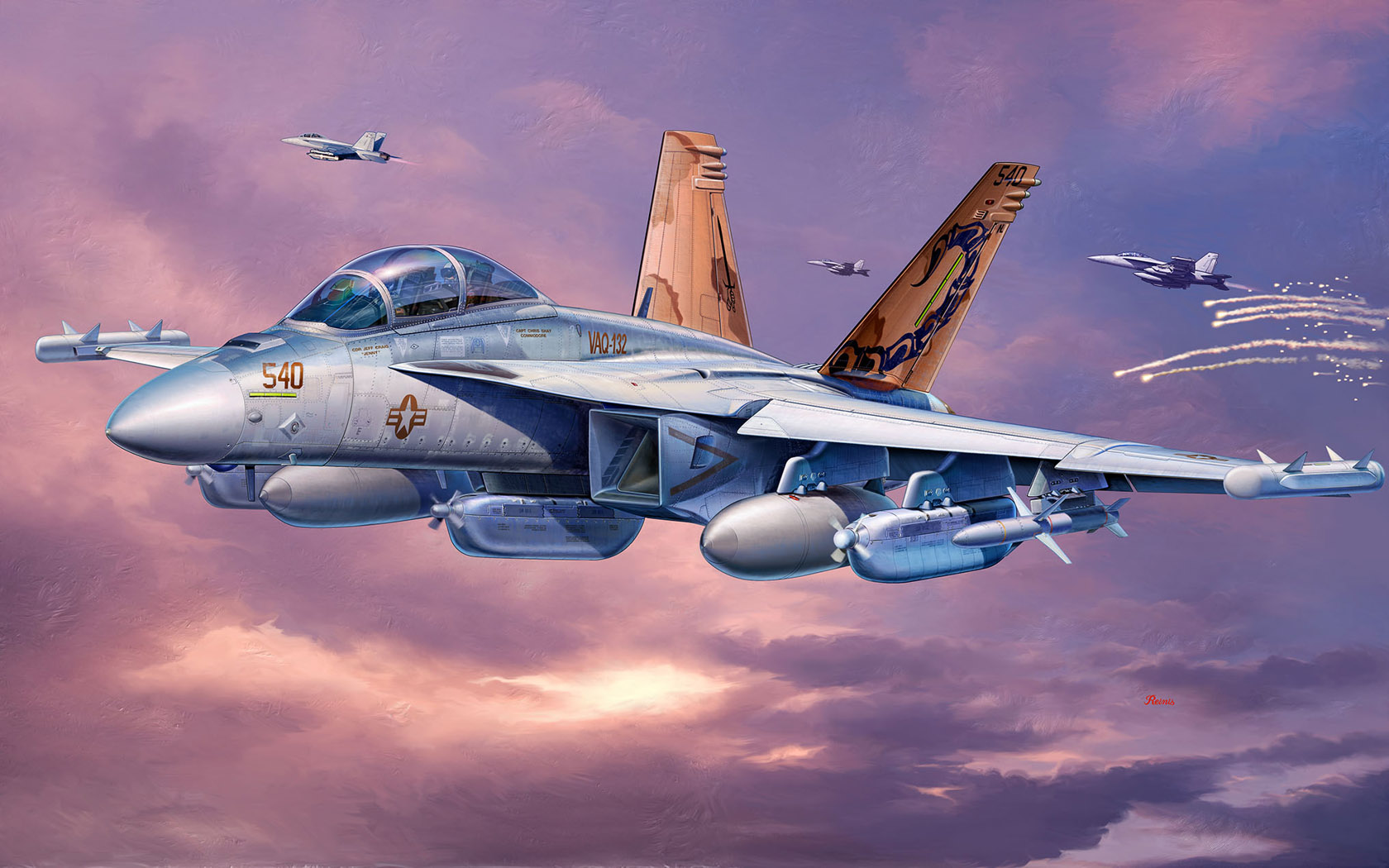 рисунок EA-18G Growler