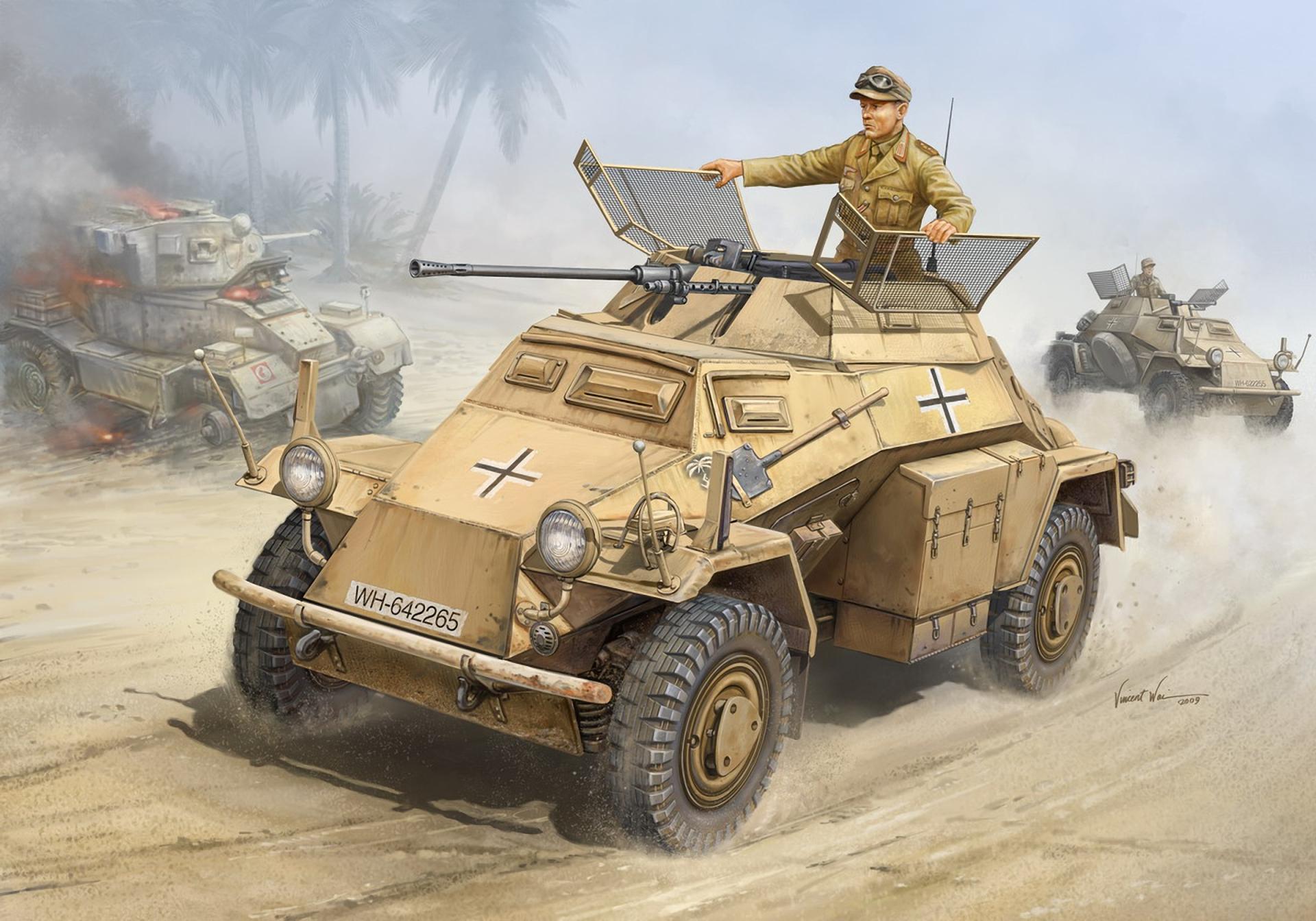рисунок Sd.Kfz.222 Leichter Panzerspahwagen