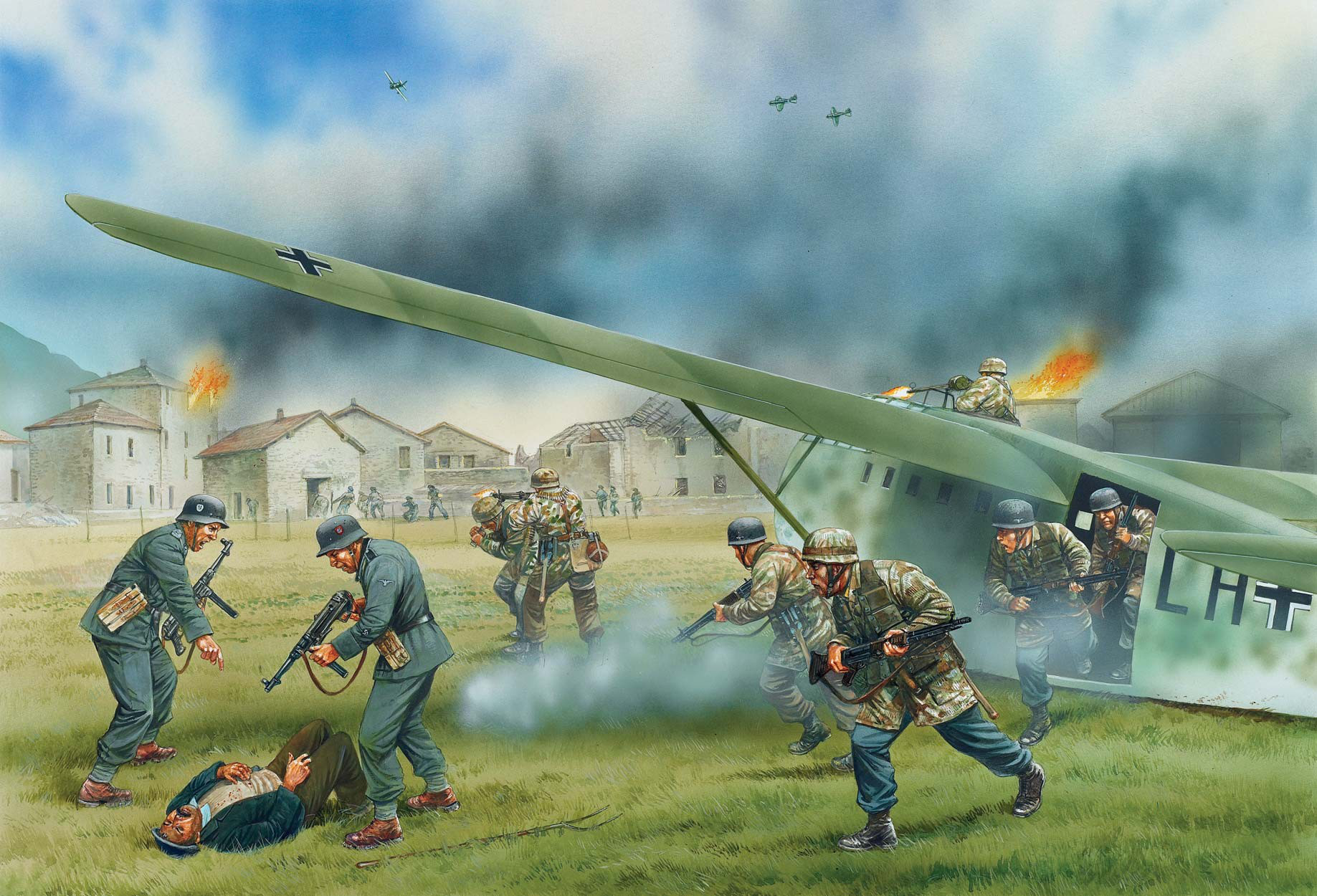 рисунок Airborne Landing at Vassieux, 21 july 1944
