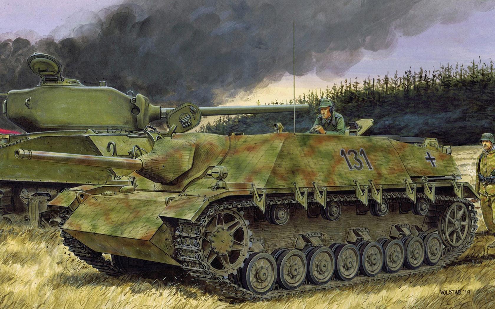 рисунок Jagdpanzer IV L48 July 1944 Production w/Zimmerit