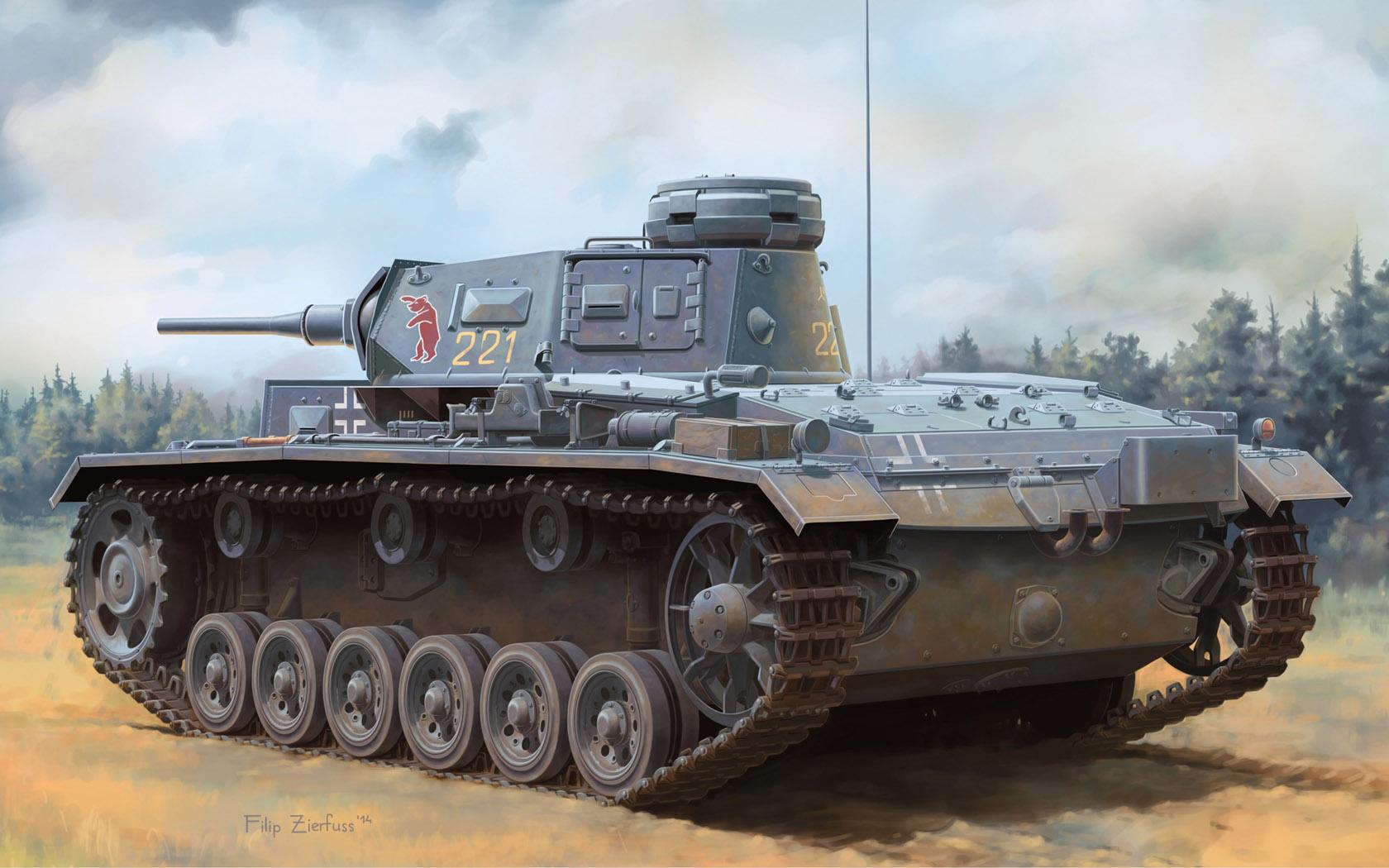 рисунок Pz.Kpfw.III (Tauchpanzer) Ausf.H